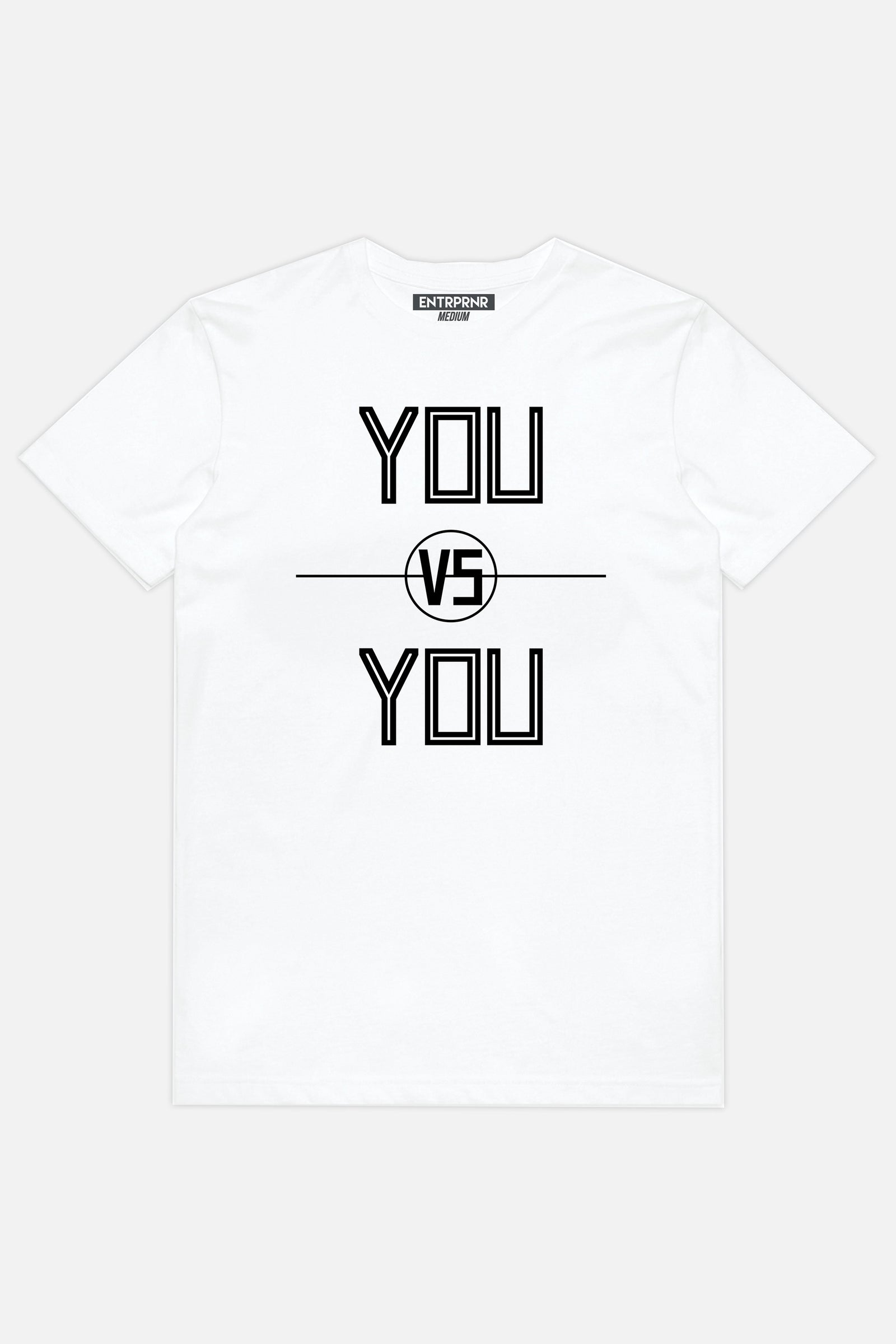 You vs. You ENTRPRNR Tee – White - ENTRPRNR® | The Entrepreneur's Clothing Brand. | Stagnancy is the Enemy. Action is King.