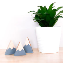 Wooden Mountain Set - Charcoal Gray - Three Small - CAVU Creations