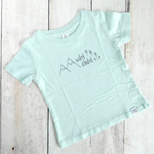 Wild Child Organic Tee - Mint / Gray - CAVU Creations