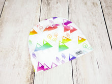 Mountains + Trees Organic Beanie - Rainbow / White - CAVU Creations