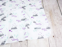 PNW Organic Swaddling Blanket - Purple / Mint / Gray / White - CAVU Creations
