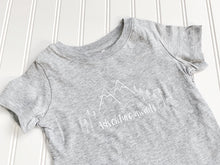 Adventure Awaits Organic Tee - Heather Gray / White - CAVU Creations