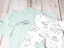 Wild Child Organic Bodysuit - Mint / Charcoal - CAVU Creations