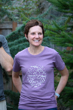 Adult Tee - Pacific Northwest Circle - Dusky Purple / White - CAVU Creations