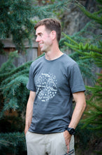 Adult Tee - Pacific Northwest Circle - Stone Gray / White - CAVU Creations