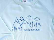 Pacific Northwest Organic Cotton Pullover - Mint / Charcoal - CAVU Creations