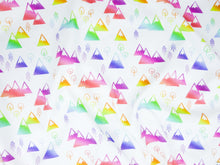 Mountains + Trees Organic Swaddling Blanket - Rainbow / White - CAVU Creations
