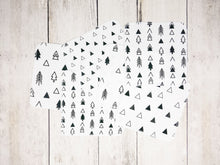 Tribal Trees + Triangles Organic Reusable Wipes (Set of 6) - Black / White - CAVU Creations