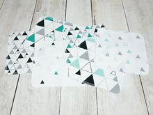 Triangles Organic Reusable Wipes (Set of 6) - Teal / Mint / Black / Gray - CAVU Creations
