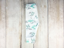 PNW Organic Baby Leggings - Mint / Forest Green / Gray - CAVU Creations