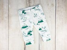 PNW Organic Baby Leggings - Forest Green / White - CAVU Creations