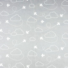 Airplanes in Clouds Organic Baby Leggings - White / Gray - CAVU Creations