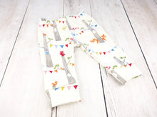 Woodland Party Organic Baby Leggings - Multi / Cream - CAVU Creations