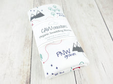 PNW Organic Swaddling Blanket - Navy / Green / Red / Gray - CAVU Creations