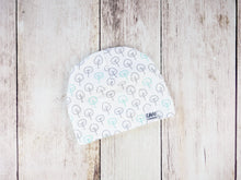 Scattered Trees Organic Beanie - Mint / Gray / White - CAVU Creations
