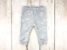 PNW Organic Baby Leggings - White / Gray - CAVU Creations