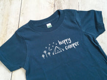 Happy Camper Organic Tee - Navy / White - CAVU Creations