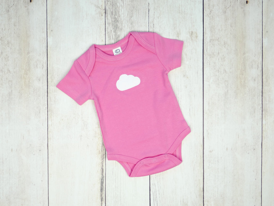 Cloud Organic Bodysuit - Pink / White (Short) - CAVU Creations
