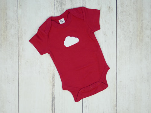Cloud Organic Bodysuit - Red / White (Short) - CAVU Creations