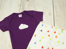 Cloud Organic Bodysuit - Purple / White (Short) - CAVU Creations