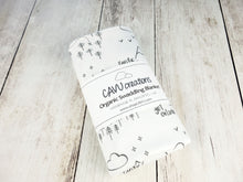 Perfectly PNW Organic Swaddling Blanket - Charcoal Gray / White - CAVU Creations