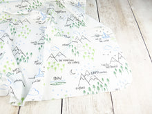 Perfectly PNW Organic Swaddling Blanket - Green / Blue / Gray / White - CAVU Creations
