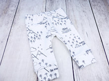 Perfectly PNW Organic Baby Leggings - Charcoal Gray / White - CAVU Creations