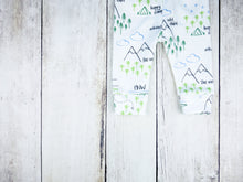 Perfectly PNW Organic Baby Leggings - Green / Blue / Gray / White - CAVU Creations