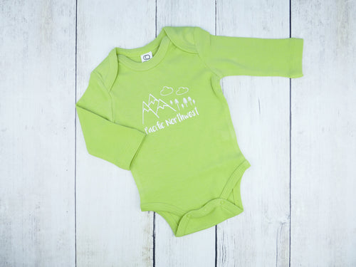 Pacific Northwest Organic Bodysuit - Light Green / White - CAVU Creations