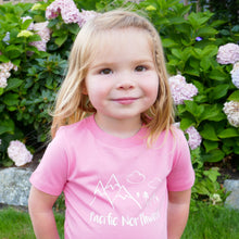 Pacific Northwest Organic Baby/Toddler Tee - Pink / White - CAVU Creations