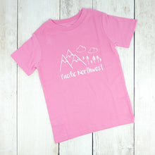 Pacific Northwest Organic Tee - Pink / White - CAVU Creations