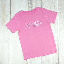 Wild Child Organic Tee - Pink / White - CAVU Creations
