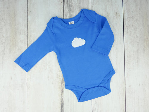 Cloud Organic Bodysuit - Blueberry Blue / White - CAVU Creations
