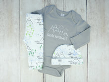 Pacific Northwest Organic Bodysuit - Gray / White - CAVU Creations