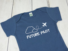 Jet / Future Pilot Organic Bodysuit - Navy / White (Short) - CAVU Creations