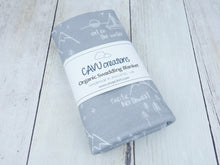 Perfectly PNW Organic Swaddling Blanket - White / Gray - CAVU Creations