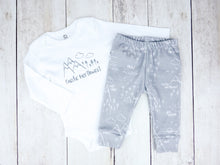 Perfectly PNW Organic Baby Leggings - White / Gray - CAVU Creations