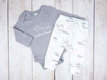 Perfectly PNW Organic Baby Leggings - Pink / Mint / Gray / White - CAVU Creations