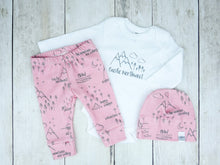 Perfectly PNW Organic Baby Leggings - Charcoal Gray / Pink - CAVU Creations