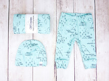 Perfectly PNW Organic Baby Leggings - Charcoal Gray / Mint - CAVU Creations