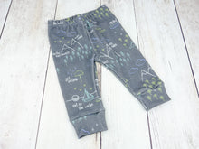 Perfectly PNW Organic Baby Leggings - Blue / Green / Mint / Charcoal Gray - CAVU Creations