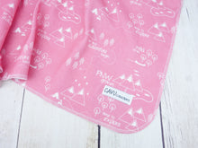 PNW Organic Swaddling Blanket - White / Coral Pink - CAVU Creations