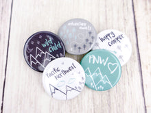 Button Pins - Set of 5 - CAVU Creations