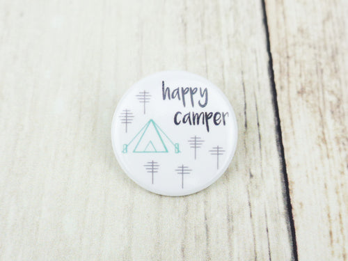 Button Pin - Happy Camper