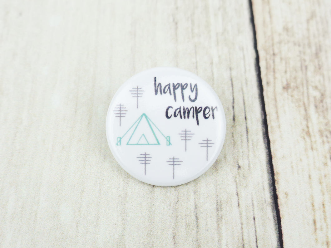 Button Pin - Happy Camper - CAVU Creations