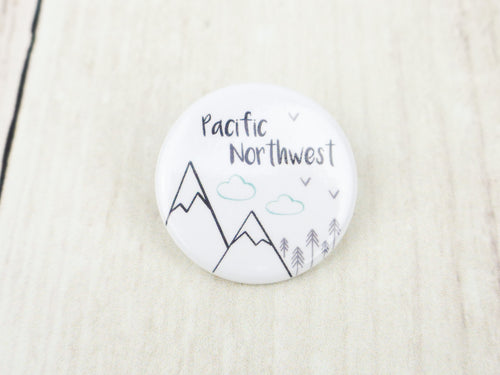 Button Pin - Pacific Northwest