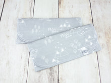 PNW Organic Burp Cloths (Set of 2) - White / Gray - CAVU Creations