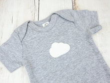 Cloud Organic Bodysuit - Heather Gray / White (Short) - CAVU Creations