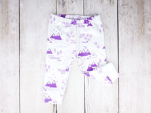 PNW Organic Baby Leggings - Purple / White - CAVU Creations