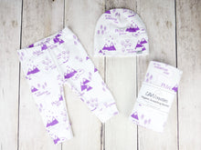 PNW Organic Swaddling Blanket - Purple / White - CAVU Creations